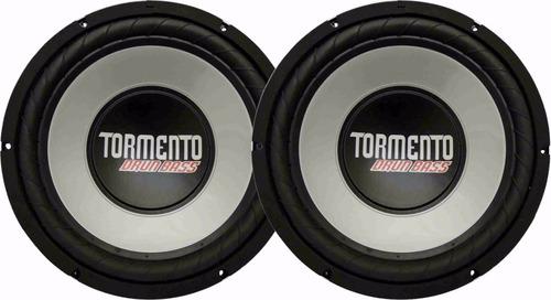 2 alto falante sub woofer tormento 12 pol drun bass 200wrms