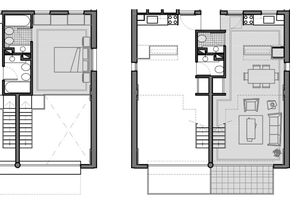 2 amb 70 m2 en duplex