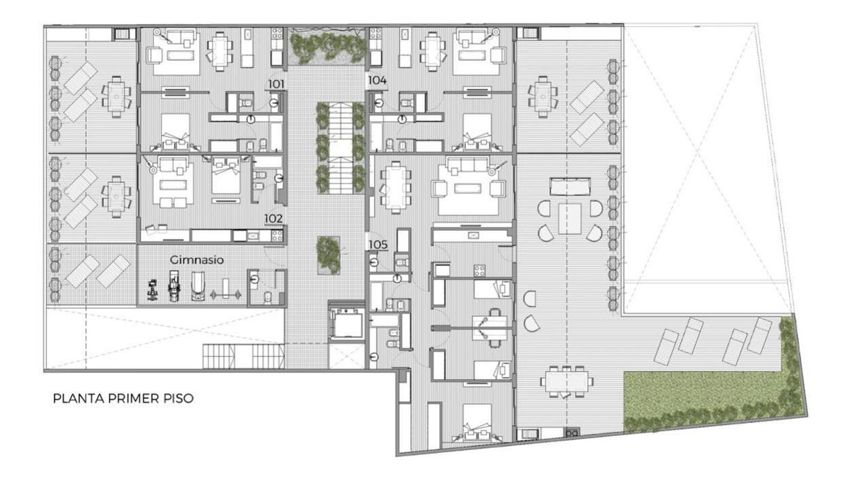 2 amb al contrafrente con gran terraza y parrilla propia 79m2
