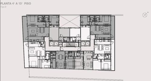 2 amb de 41.99 m2 - emprendimiento en pozo | calidad de construcción y amenities
