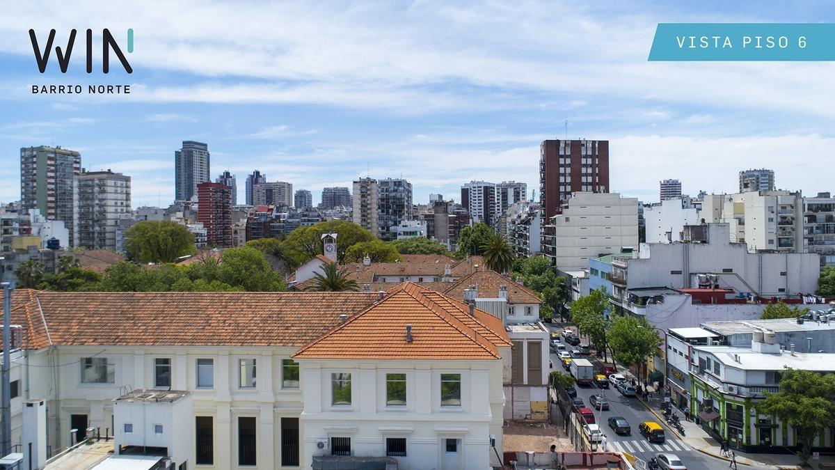 2 ambientes 51m2 en recoleta. amenities. win barrio norte