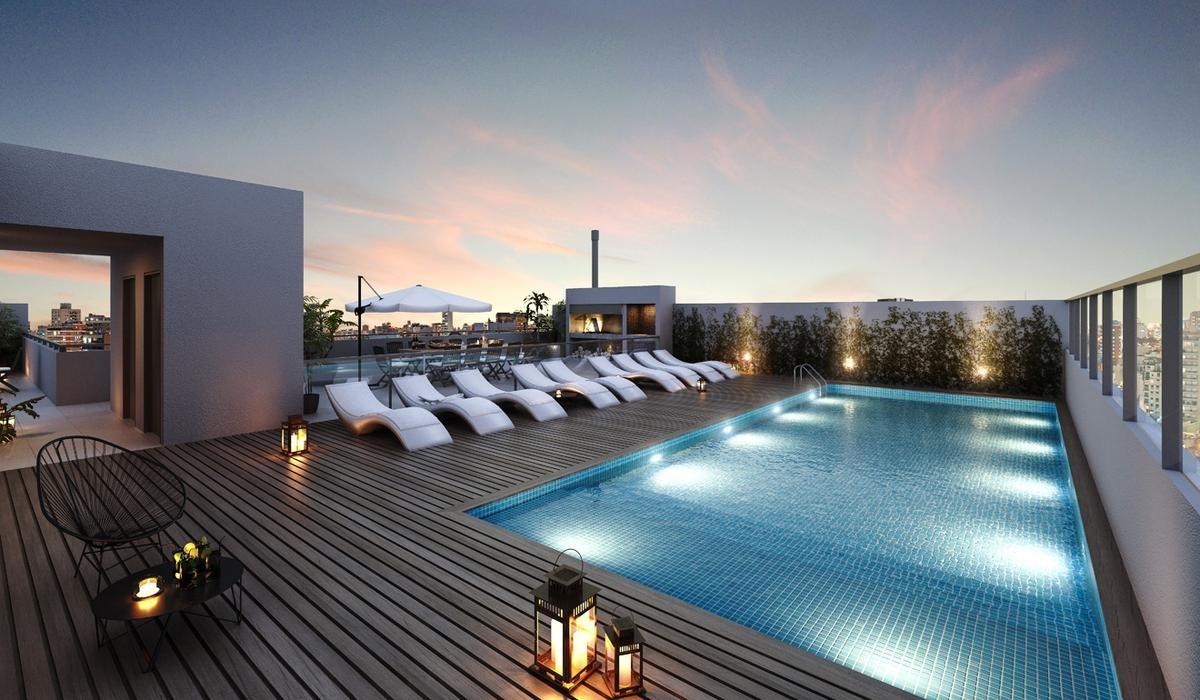 2 ambientes 70m2 en palermo hollywood. edificio con amenities