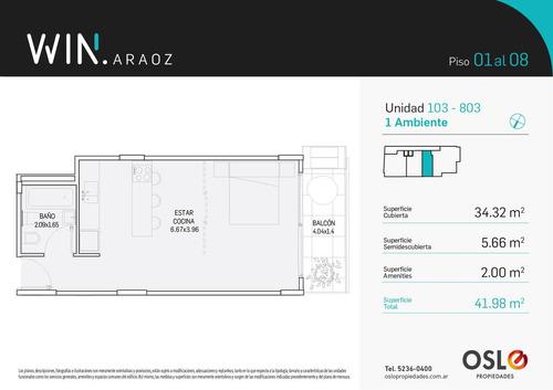 2 ambientes 75m2 con terraza