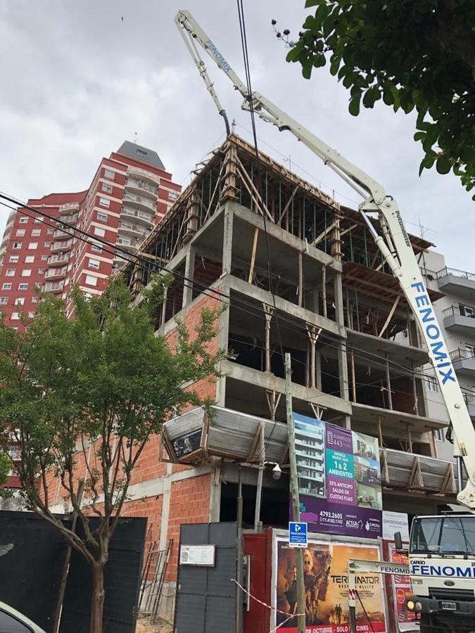 2 ambientes a estrenar de 46 m2 mas 9 m2 de balcón, excelente calidad de construcción.