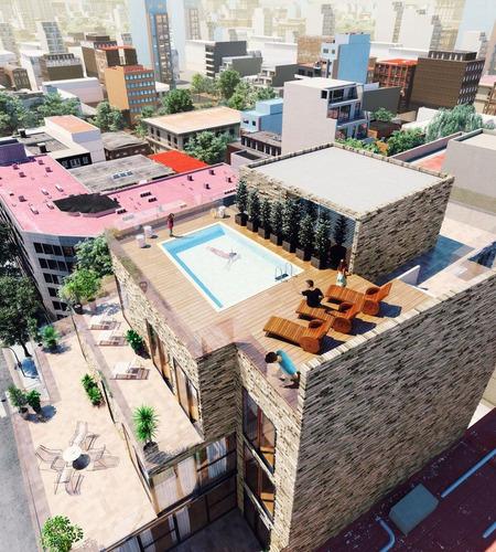 2 ambientes c terraza 75m2 en palermo/colegiales. entrega 2020