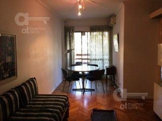 2 ambientes en alquiler temporario. con amplio balcón. recoleta. sin garantía!