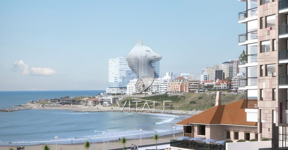 2 ambientes en construccion  vista al mar