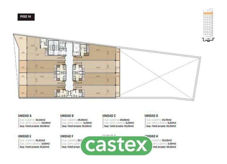 2 ambientes en obra en venta en san telmo