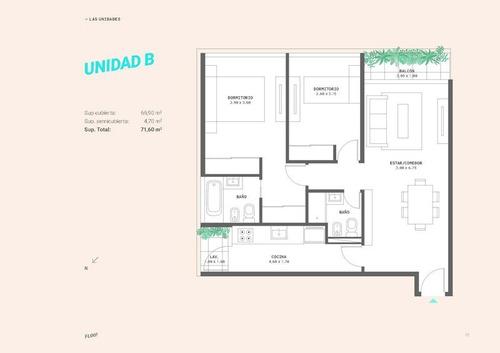 2 ambientes unidades c y d 2º piso