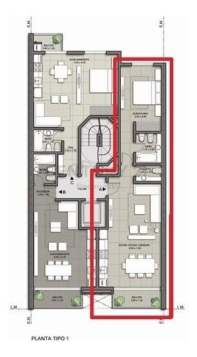 2 ambientes zona plaza colon