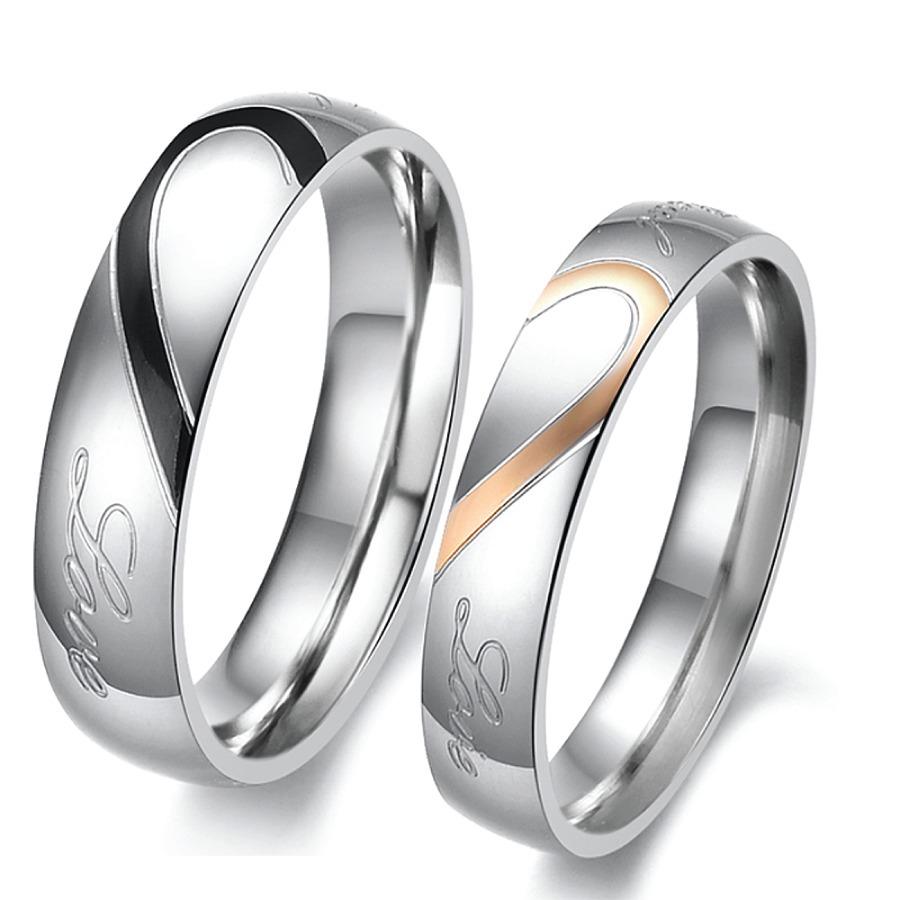 0fe61fb4f29e 2 anillos de compromiso titanio columnaria + envío gratis. Cargando zoom.