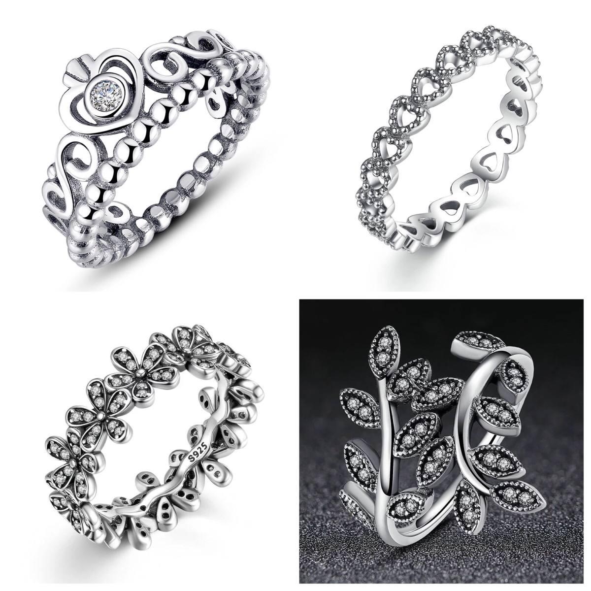 pandora anillo princesa plata