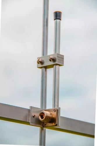 2 antena direcional para transmissor de fm 7db + divisor