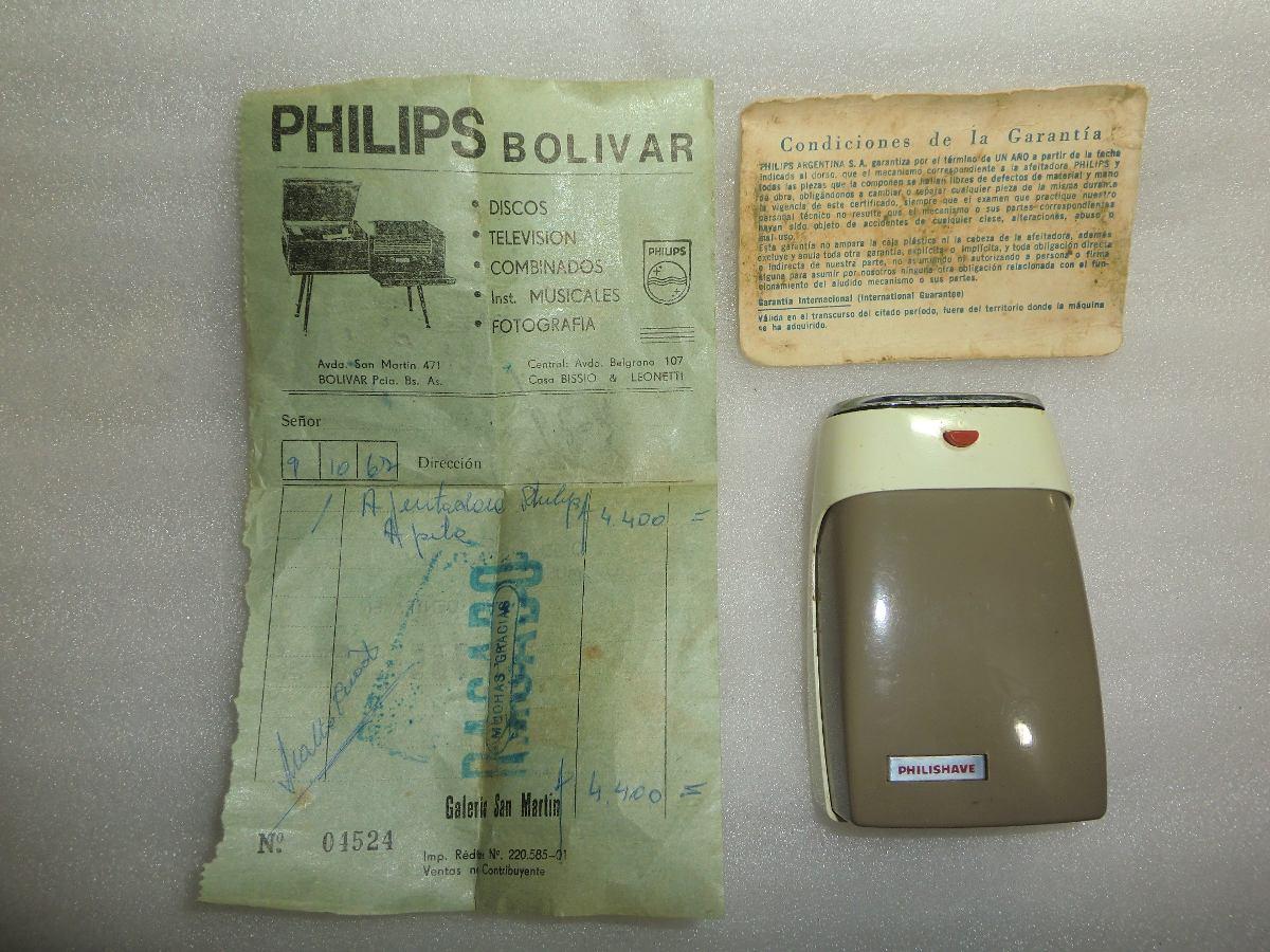 2 Antiguas Afeitadora Philips A Pilas 98ee930dc307