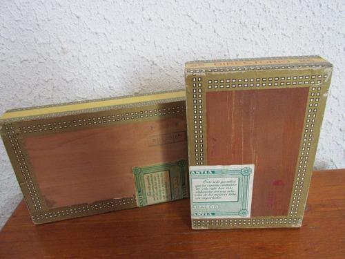 2 antiguas cajas cigarros cia chilena de tabacos valparaiso