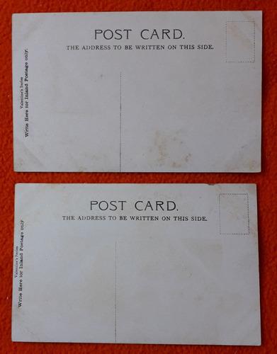 2 antiguas postales de la ciudad londres inglaterra