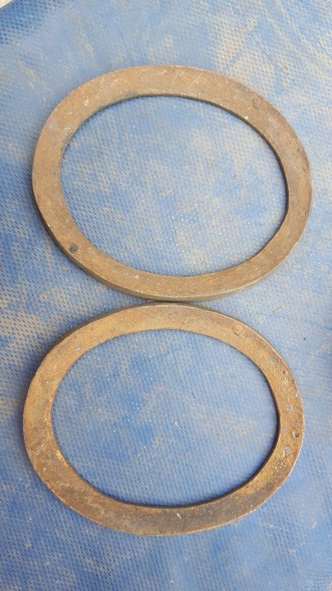 2 Antiguos Marcos De Bronce Ovales - Precio X Ambos 12,5cm - $ 350 ...