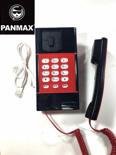 2 aparelho de telefone de mesa com fio unitel padrão