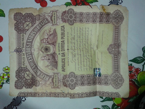 2 apolice da divida publica 1902