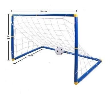 2 arco mini futbol para niños desarmables resistente+pelota