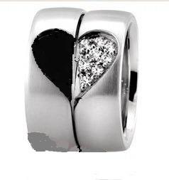 2 argollas el y ella del amor  corazon el y ella  boda amor