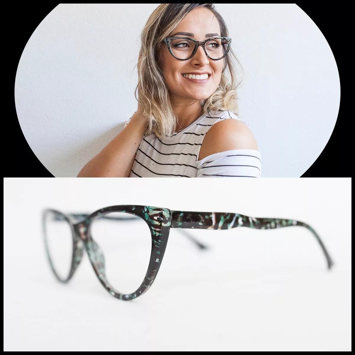 cf7d10e4d 2 Armações Óculos Feminino Lente Sem Grau Fy115/zf8823 - R$ 111,94 em  Mercado Livre
