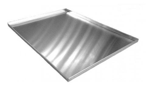 2 assadeiras para rocambole em alumínio 40 x 30 x 2