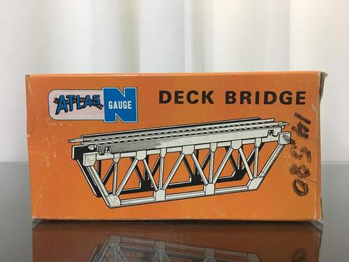 2 atlas railroad n gauge deck bridge 2547