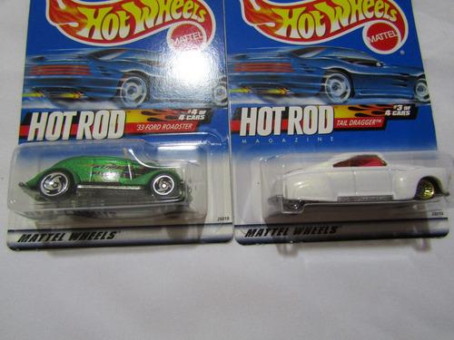 2 autos hot wheels hot rod del año 1999