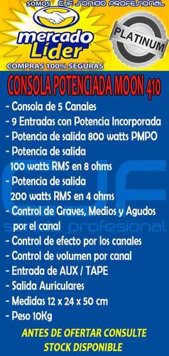 2 bafles 300w + consola 9 ent.con fx potencia 800w +2mic cjf