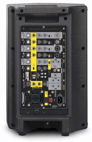 2 bafles inyectados + consola amplificador 1600w skp