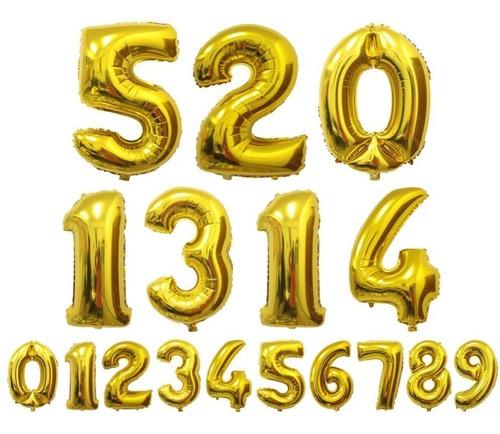 2 balão número metalizado 70cm dourado rose gold festa decor