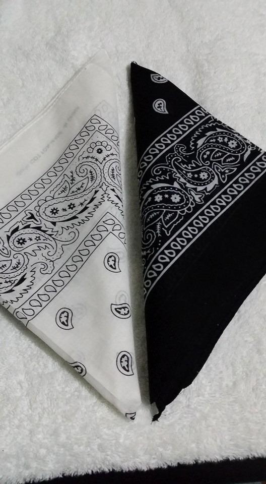 2 bandana lenço branco preto vermelho cores a escolher. Carregando zoom. a73a6f35226