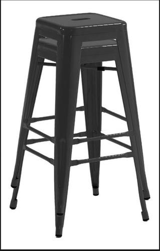 2 banquetas de acero color negro