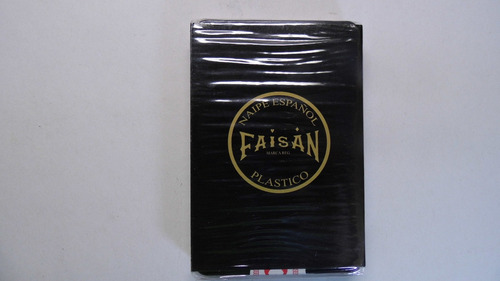 2 barajas naipe española 100% plastico, marca faisan, (msi)