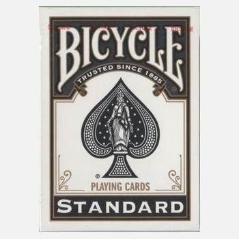 2 baralho bicycle standard (par) - preto e vermelho