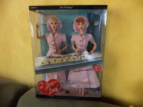2 barbie de colección i love lucy