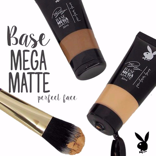 2 base líquida mega matte playboy perfect face 30ml