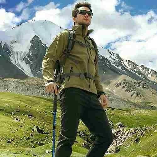 2 bastón de trekking 4 tramos mango t con luz led
