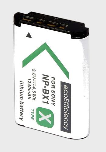 2 batería + cargador ecoefficiency cámara digital np-bx1/m