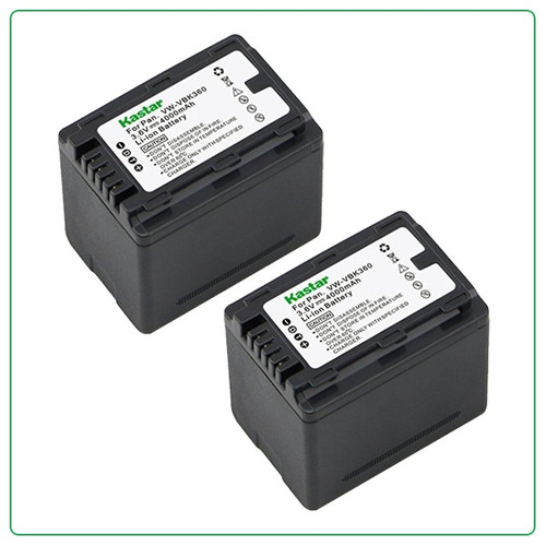 2 bateria pila vbk360 p/ videocamara panasonic sdr-s70 y mas