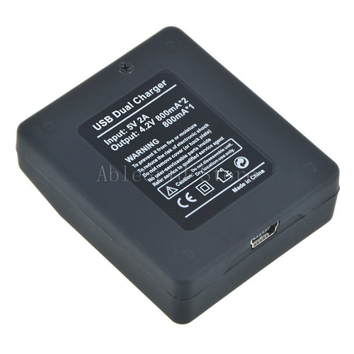 2 baterias+cargadores para gopro hero 4 ahdbt-401 ahdbt401