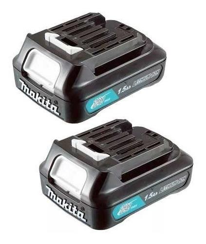 2 baterias de lítio 12v max slide bl1016 1.5 ah cxt - makita
