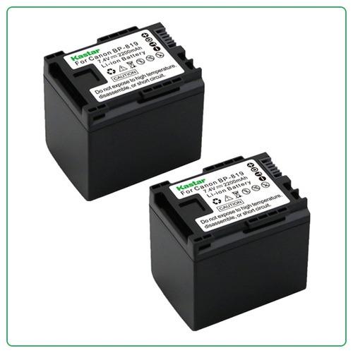 2 baterias kastar bp819 bp 819 para canon vixia hf m30 xa10