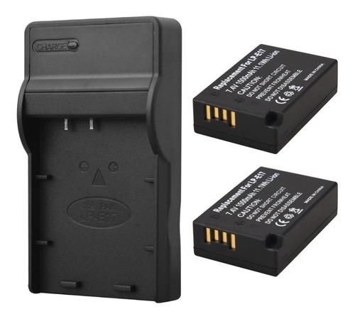 2 baterias lp-e17 + carregador p/canon eos rebel t7i e 77d