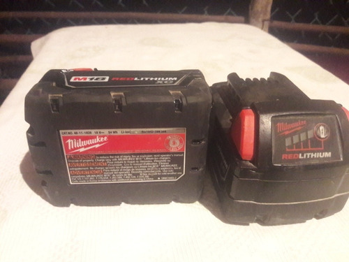 2 baterias milwaukee m18 red lithium xc 18v originales