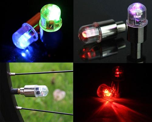 2 bicos de led multi cores rgb neon - bike moto carro pneu