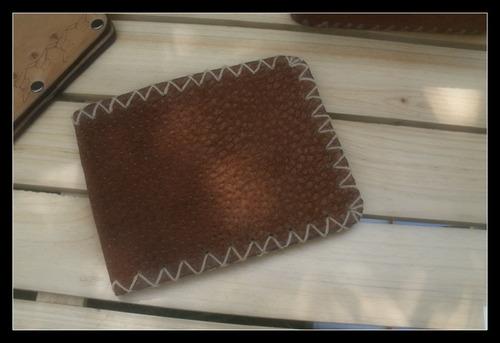 2 billetera en cuero artesanal