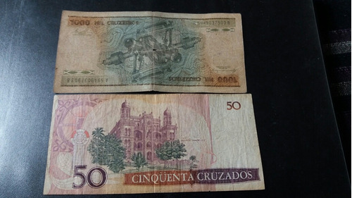 2 billetes brasil diferentes mil cruzeiros  (c18_2