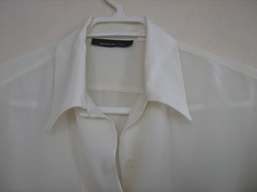 2 blusas manga larga (lila y color mantequilla)